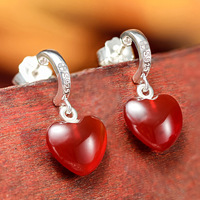 Anime Cosplay Fairy Tail Jewelry Lucy Erza Earring Scarlet Earrings 925 Silver Ear Stud Beautiful Design for Girl Birthday Gift