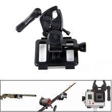 Multifuncional, suporte fixo acessórios de pesca tiro tiro com arco, para sj4000 5000 câmera ação gopro hero 3 3 + 4 xiaomi yi
