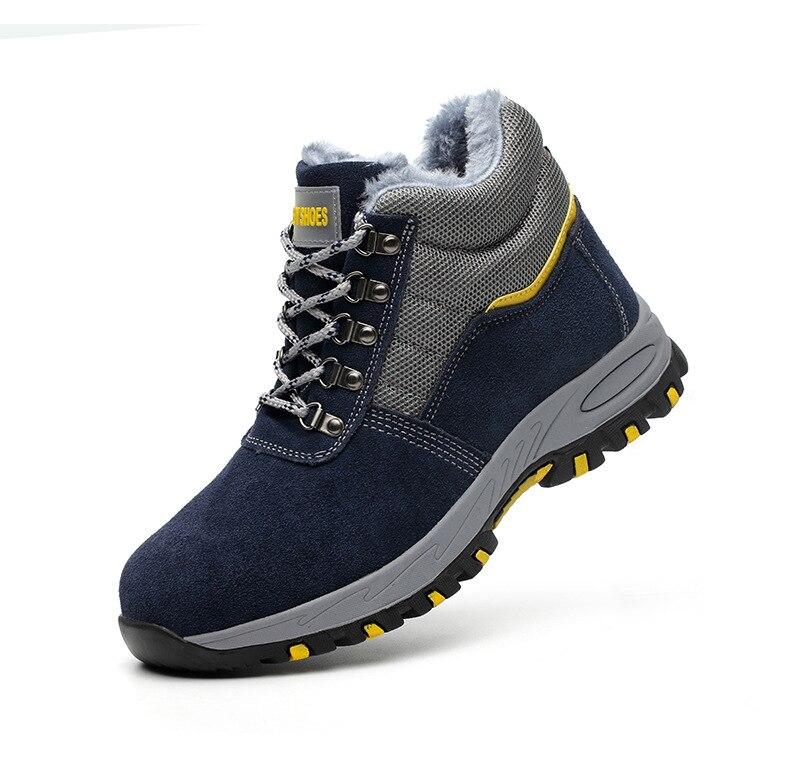 Sapatos masculinos botas de trabalho inverno quente