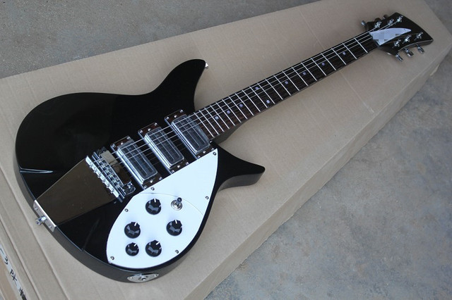 US $189 0 |Factory custom Model 350 black body electric guitar with white  pickguard,CHROME HARDWARE,can be made as your request-in Guitar from Sports