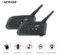 VNETPHONE Motorcycle Intercom Helmet Headset Speaker Interphone Moto Accessories Support Wireless 1200m 2PCS