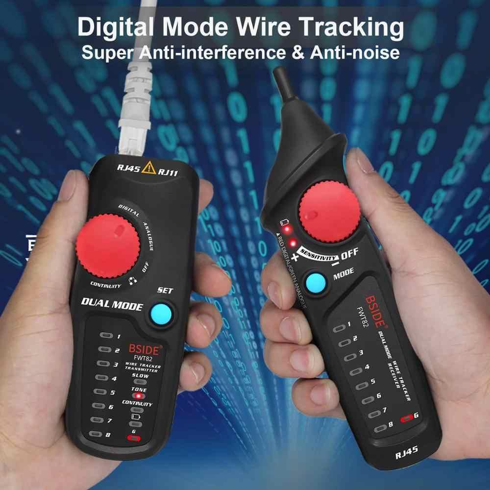 Rastreador de Cable de red de doble modo BSIDE FWT82, tóner de alambre RJ45 RJ11, Analizador de línea de trazador de Ethernet LAN
