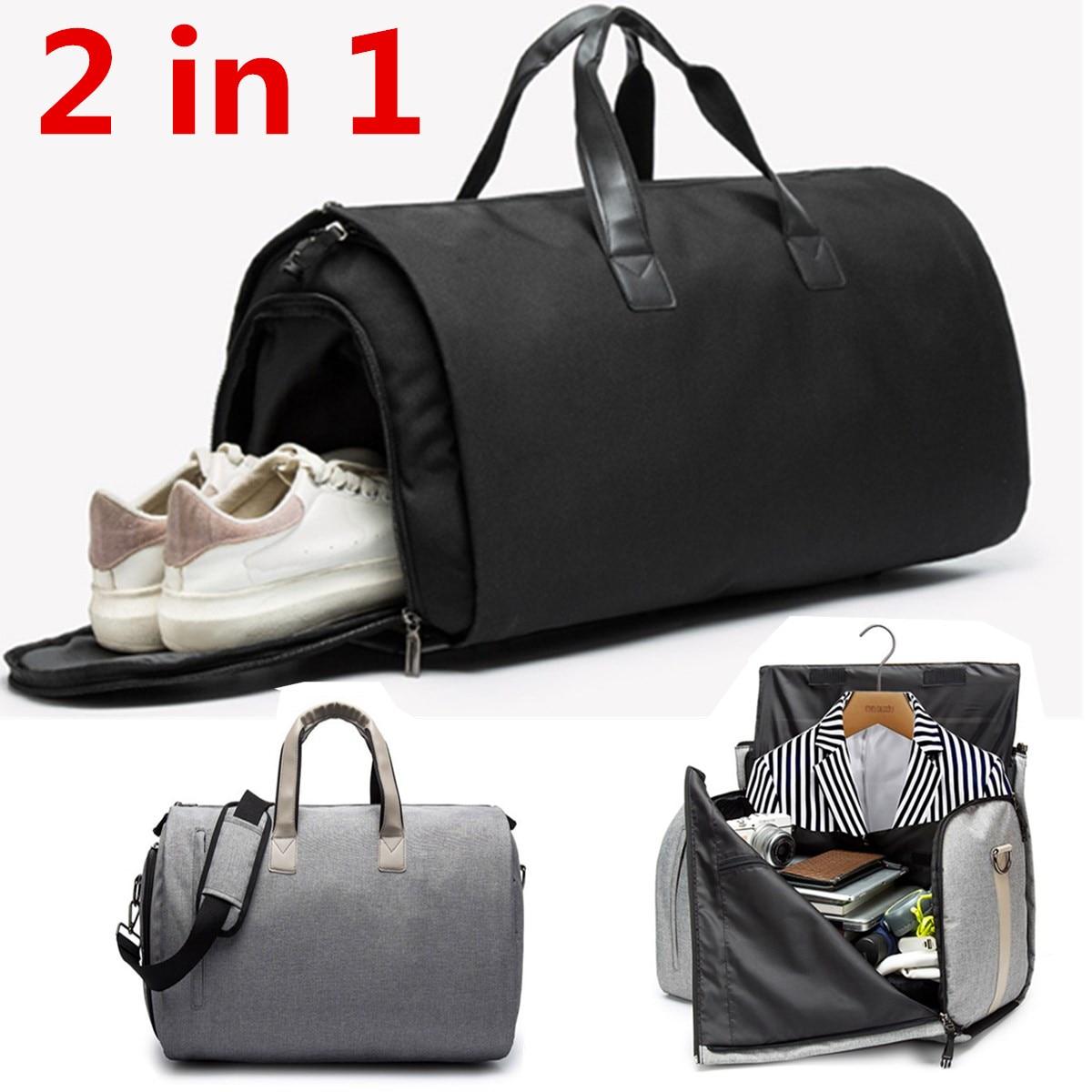 2 en 1 nouvelle grande capacité femmes voyage sac hommes week-end formation Fitness bagages chaussures stockage polochon fourre-tout loisirs sac à main