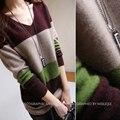 2015 femenina larga sección de Otoño y lana de invierno cachemira suéter de punto flojo Pullover básica