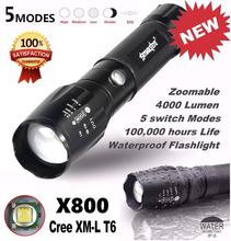 High Quality 5000LM G700 Tactical LED tactical Flashlight X800 Zoom Super Bright Military Light Lamp linterna militar