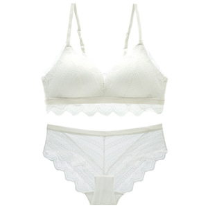 Image 3 - Varsbaby ladies lace push up comfortable underwear wire free adjusted straps bra sets