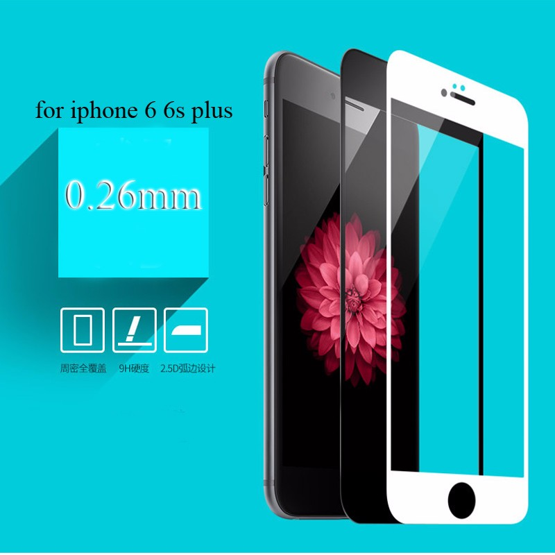 For-iphone-7-3D-curved-edge-full-cover-mobile-phone-tempered-glass-front-screen-protector-protective