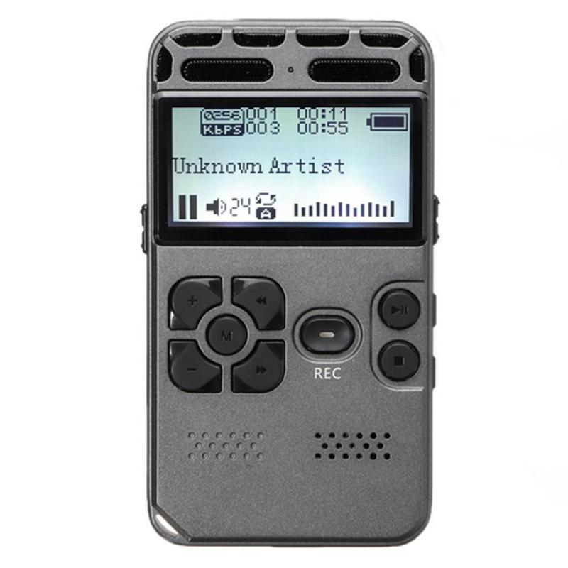 2 Inch LCD Display 8GB Smart Noise Reduction Professional Voice Recorder Dictaphone Hifi MP3 Music Player Support 64G TF Card