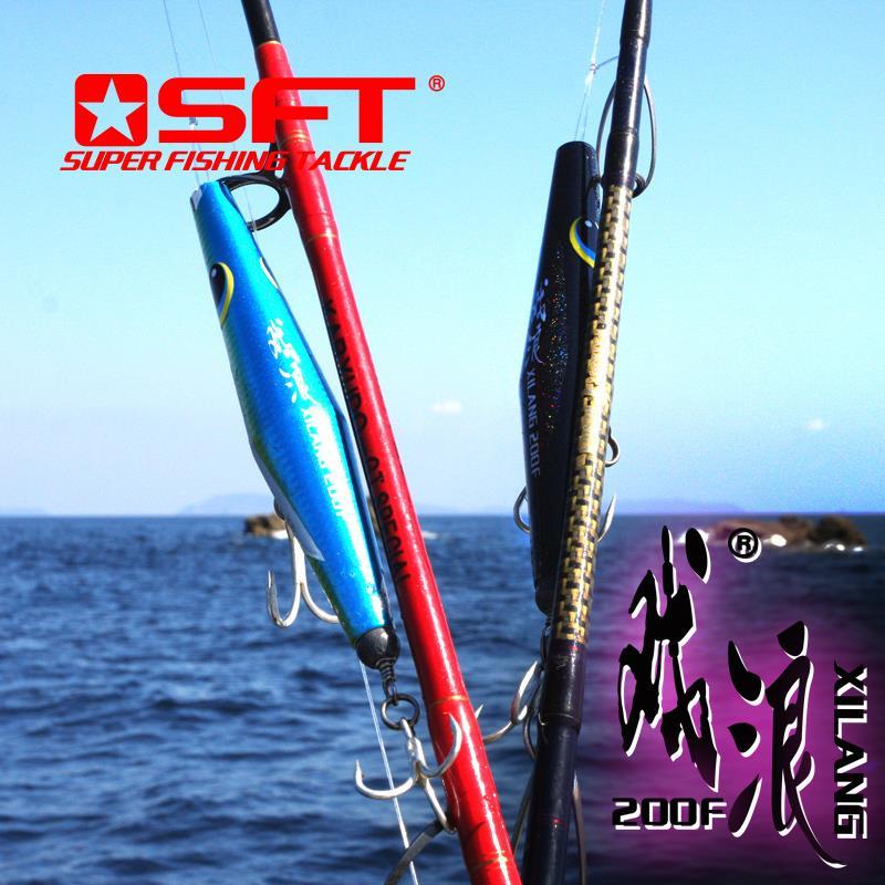 XILANG 200mm 90g crayon flottant Popper à la main en bois bouchon de pêche leurre thon à queue jaune GT SFT marque