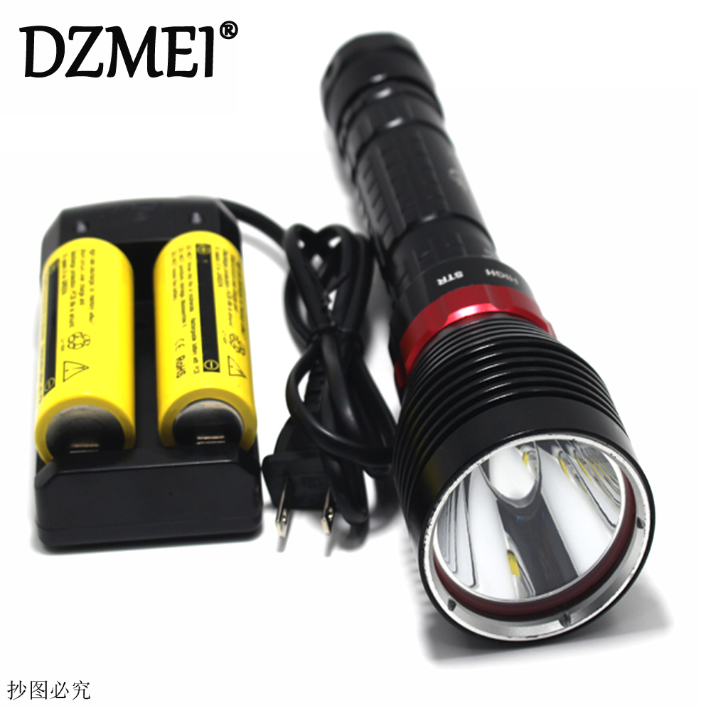 Underwater Diving Flashlight XM-L2 LED Light Lamp Waterproof 3800 Lumen  L2 LED Light by 26650 Battery For Driving Lamp Torch 2000 lumen cree xm l2 led diving flashlight torch underwater 18650 battery waterproof lamp light lantern for spearfishing