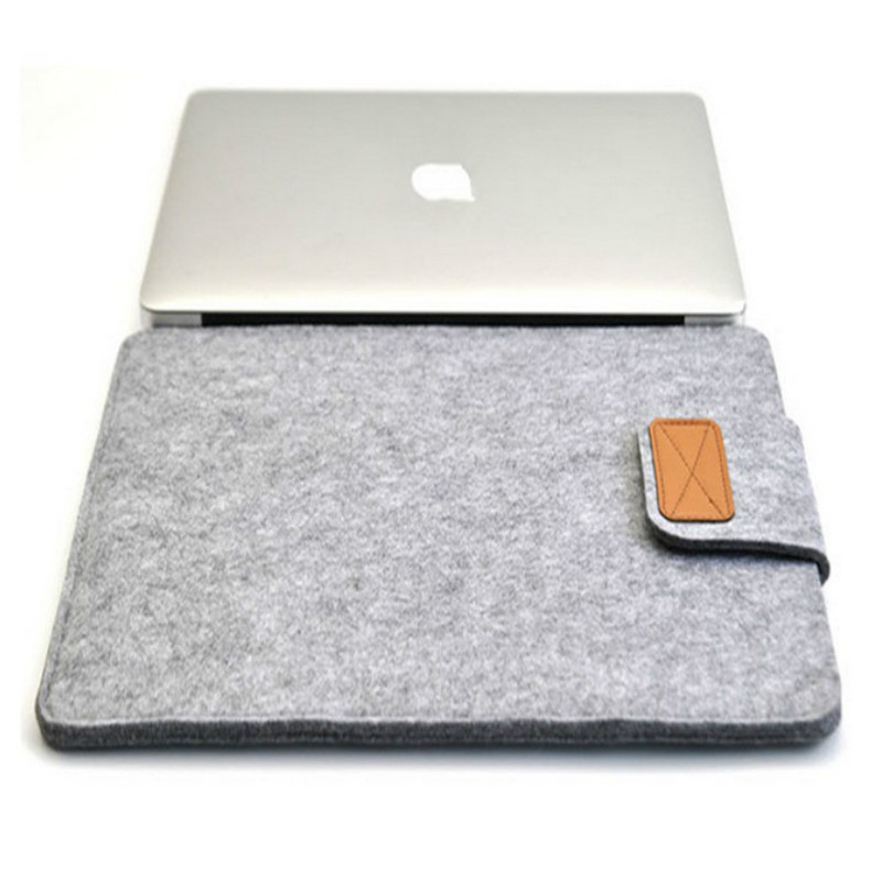 2018 Premium Soft Wool Felt Sleeve Bag Case Notebook Cover For 11 12 13 15 Inch Macbook Pro 13 15 A1706 A1707 A1990 Laptop Bag
