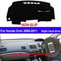 TAIJS для Honda Civic 2006 2007 2008 2009 2010 2011 правый руль Dash коврик DashMat силиконовый чехол для приборной панели автомобиля Стайлинг автомобиля