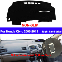 TAIJS для Honda Civic 2006 2007 2008 2009 2010 2011 правым тире коврик DashMat силиконовый приборной панели автомобиля крышка стайлинга автомобилей