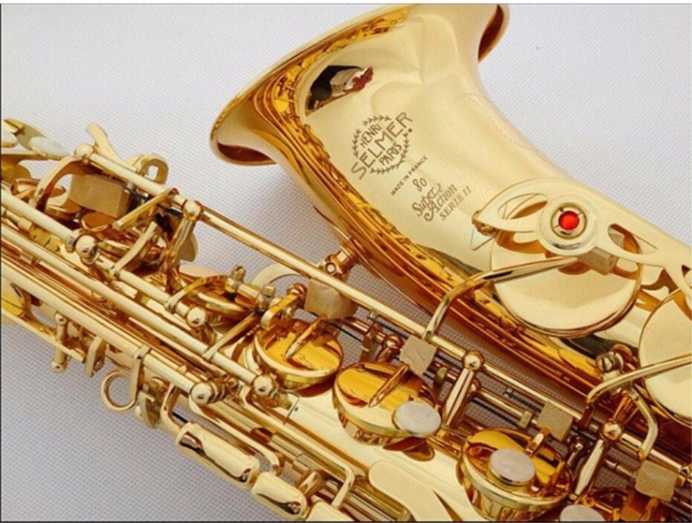 Sales France Selmer 802  New Saxophone E Flat Alto High Quality saxophone Top Professional Musical Instruments Free shipping long term sales top quality 100