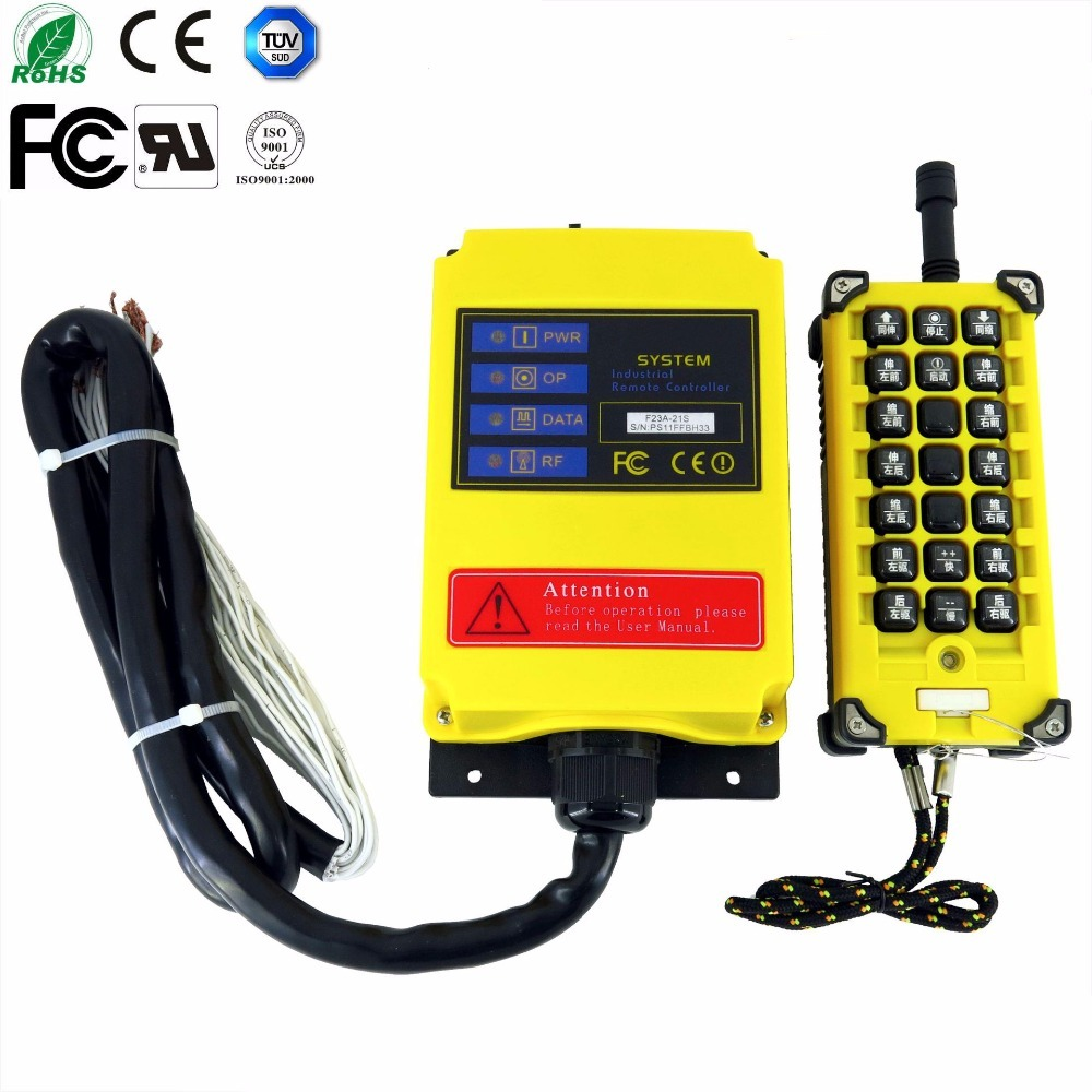 high quality 220V AC 1 Speed 1 Transmitter 21 Channels Hoist Crane Industrial Truck Radio Remote Control System Controller