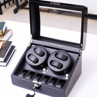 wooden carbon fiber watch accessories box watch winder case for rotator watches storage movement ratator boxes winders