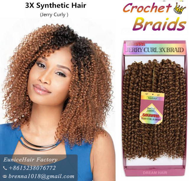 New Synthetic Jerry Curly Bundle Braid Deep Wave Ombre Braiding Hair Extension Crochet Braids 3pcs