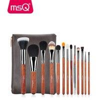 MSQ New Pro Makeup Brushes Set 13pcs Powder Foundation Eye Shadow Blending Eyebrow Lip Brush Make Up Brushes Tool Copper Tube