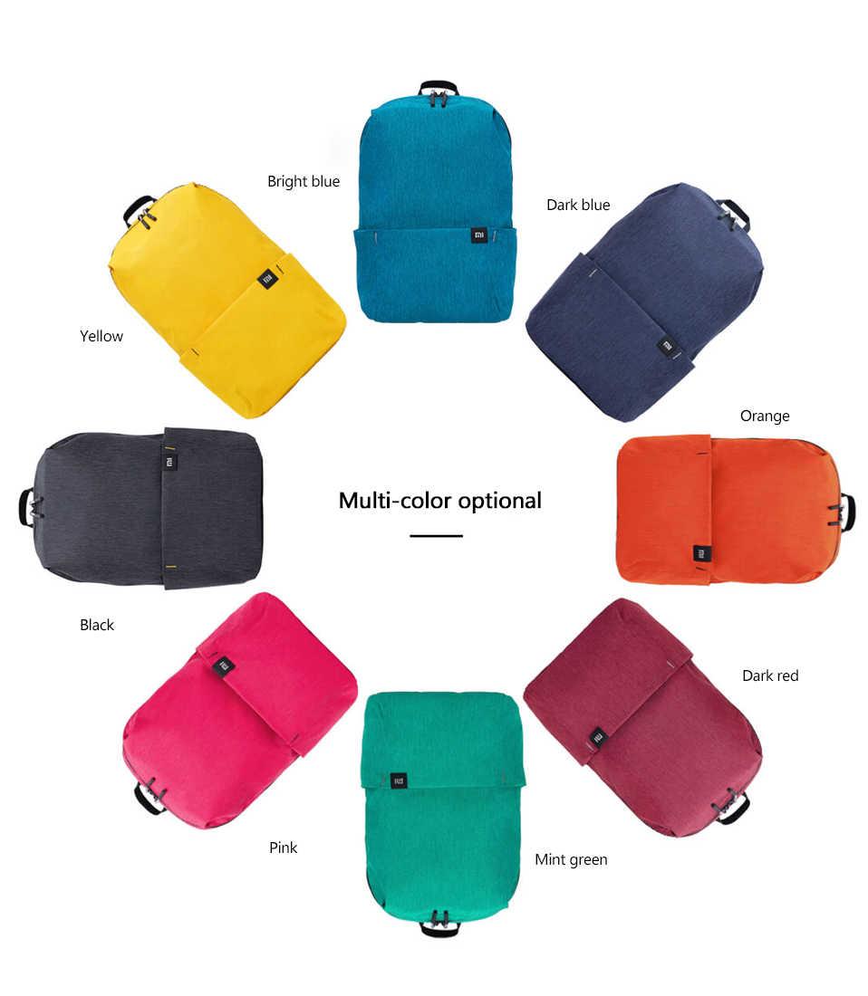 Оригинальный цветной мини-рюкзак Xiaomi, 8 цветов, уровень 4, водоотталкивающий 10л, емкость 165 г, вес, молния, для отдыха, спорта