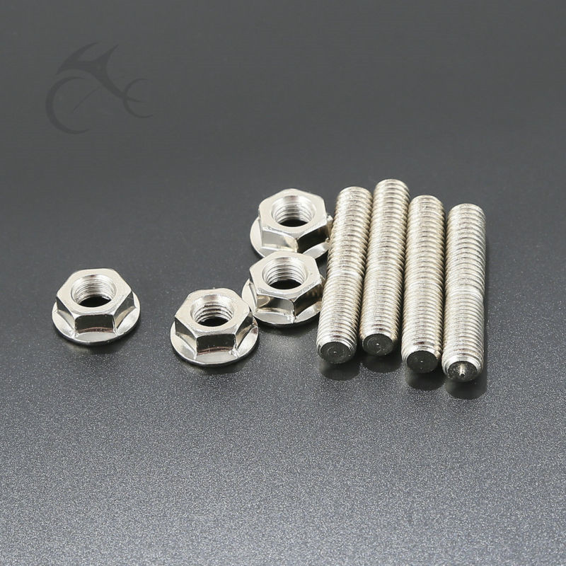 Stainless Exhaust Port Studs Nut For Harley Touring Electra Road Street Glide Sportster 1200 883 Dyna Bob Low Rider Automobiles & Motorcycles Motorcycle Accessories & Parts