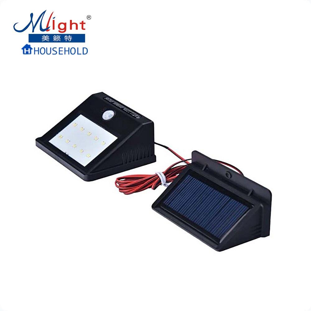 10 LED 2835 SMD Waterproof IP55 Solar Powered Wireless PIR Motion Sensor Light Outdoor Garden Security Wall Lamp doorplate lamp