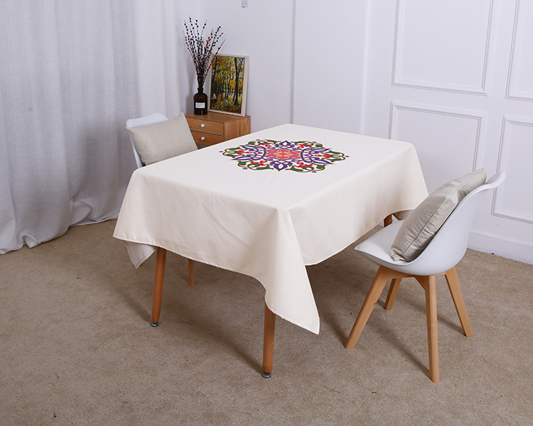 Table cloth Religious Supplies Islamic Muslim Mosque Waterproof Tablecloth Ramadan Eid Festival Printed Home Kitchens Decoration