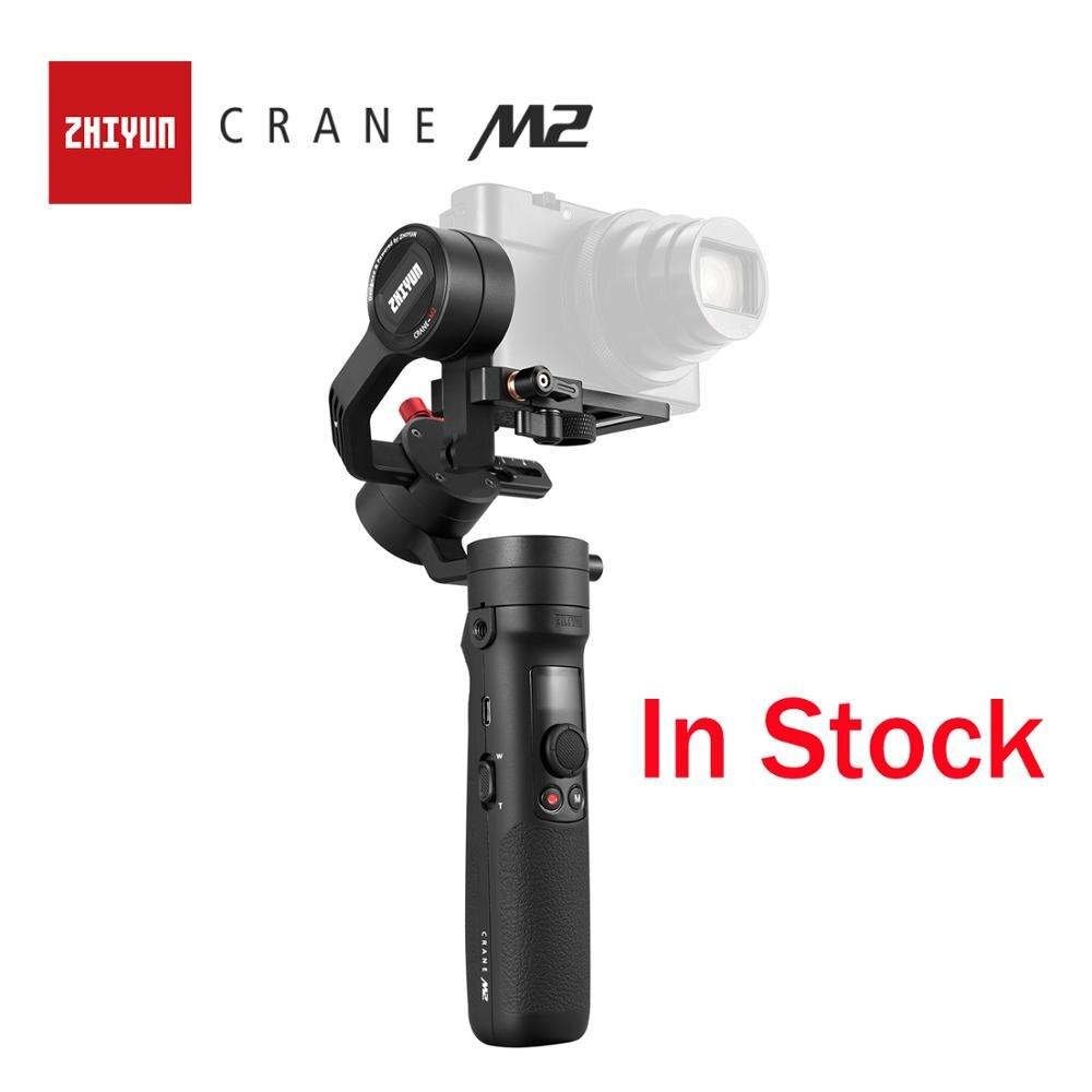 ZHIYUN Oficial Guindaste M2 Gimbals para Smartphones Mirrorless Câmeras Compactas de Ação Nova Chegada 500g Handheld Estabilizador Em Estoque