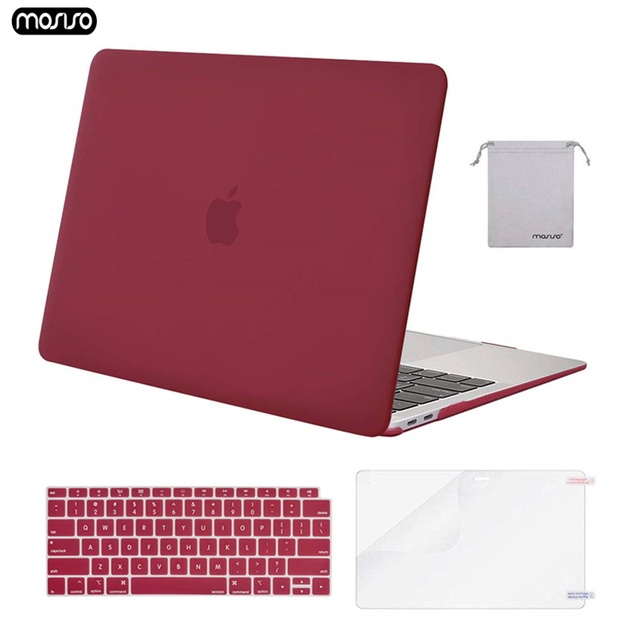MOSISO Matte Crystal Plastic Hard Case Cover for Macbook Pro 13 15 Retina Model A1502 A1425 A1398 New Air 13 A1932 Laptop Bag
