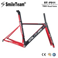 SmileTeam 2018 New BSA Carbon Road Bike Frameset T800 Carbon 700C Racing Bicycle Frame With Fork