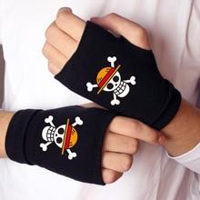 Une pièce gants Action une pièce Figure coton gant Luffy Edward Newgate demi doigt gant clavier typage gants jouet pour cadeau
