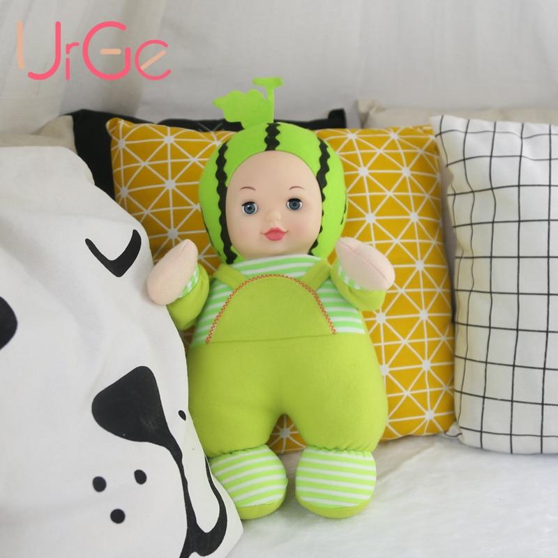 Kawaii en peluche en peluche bébé de bande dessinée de dessin animé fruits et légumes Enfants jouets pour enfants silicone reborn baby dolls cadeau d'anniversaire