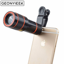 HD 12x Optical Zoom Camera Telescope Lens With Clip For iPhone/Phone Universal l