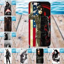 Captain America Civil War Winter Soldier Bucky For Apple iPhone 4 4S 5 5C SE 6 6S 7 8 Plus X Galaxy Grand Core II Prime Alpha(China)