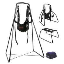 4 in 1(Sex Swing+Chair+Pillow)Adjustable Restraints Fetish Sex Position Bondage(Nylon+Sponge+Metal)Sex Furniture For Couples
