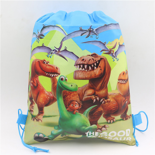 Small Cute Christmas Birthday Return Gifts Bag The Good Dinosaur Children School Non Woven Fabrics Drawstring Backpacks