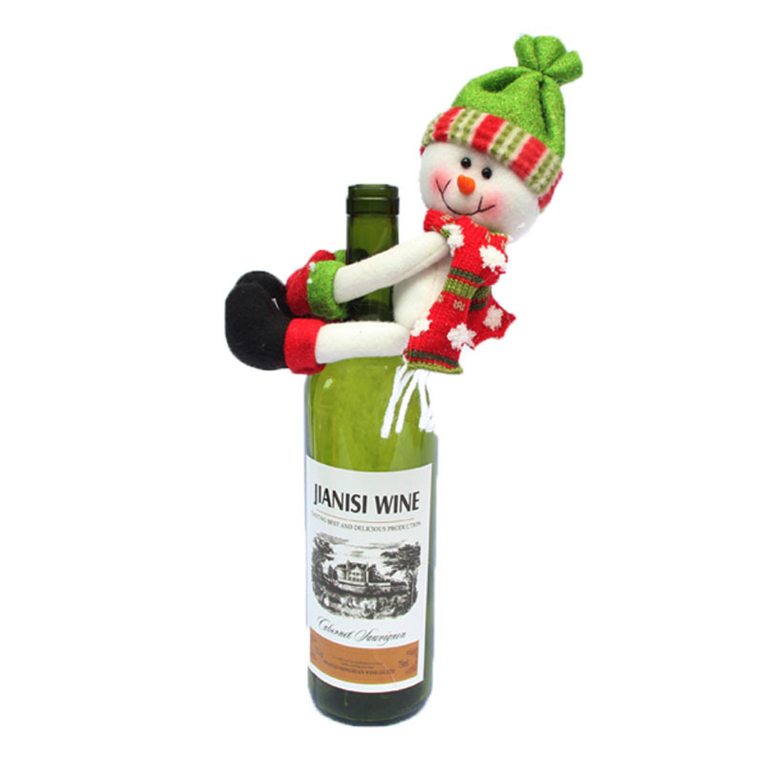 Useful Santa Claus Wine Bottle Cover Christmas Decorations For Home Snowman Bottle Pendant Sets Xmas Dinner Table Decor