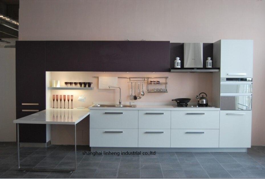 Haute brillant/laque armoires de cuisine mordern (LH-LA049)