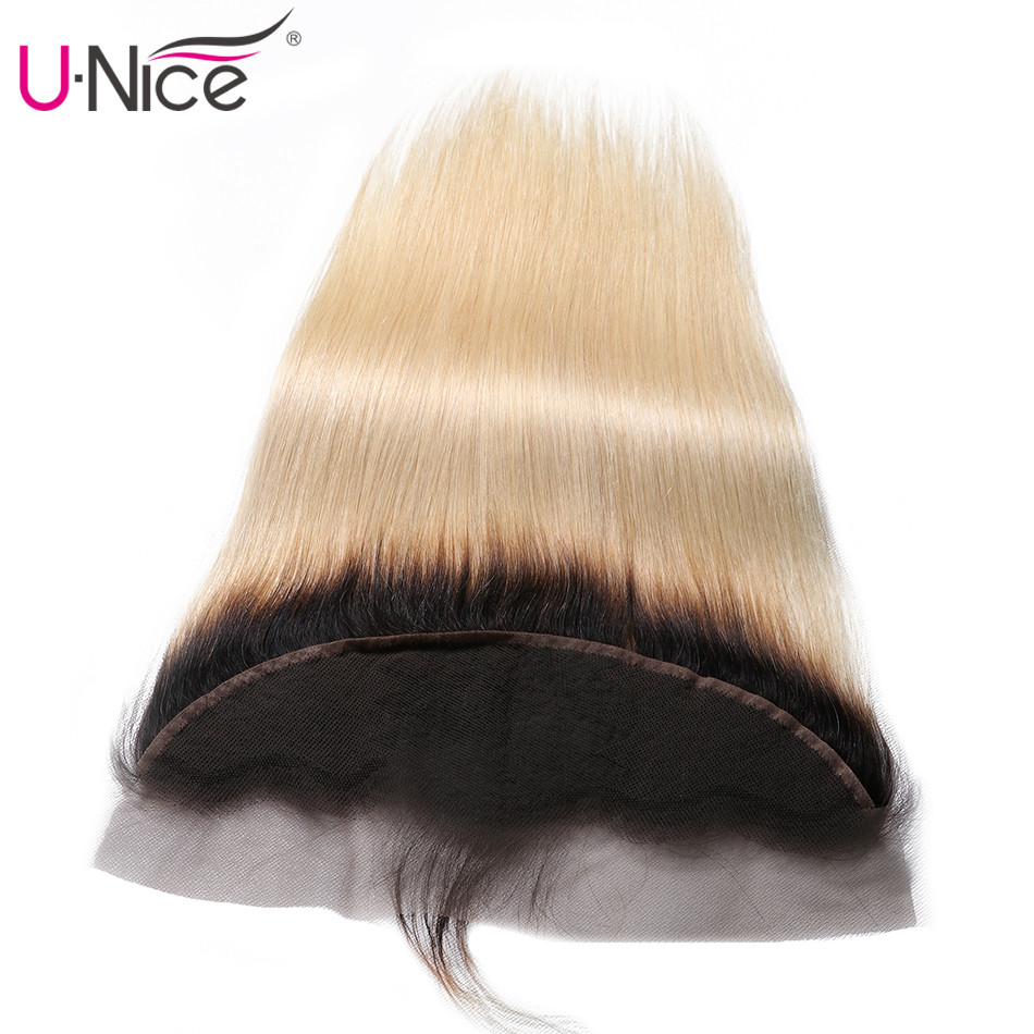 UNICE HAIR Lace Closure Lace-Frontal Brazilian Pre-Plucked 1piece Straight 13--X4-Free-Part