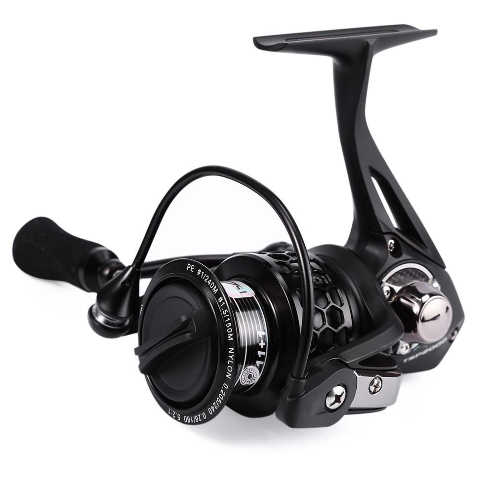 Trulinoya TSP2000 12BB Metal Aluminum Spinning Fish Reel with Spare Spool Foldable Left Hand Brand Quality Fishing Reels