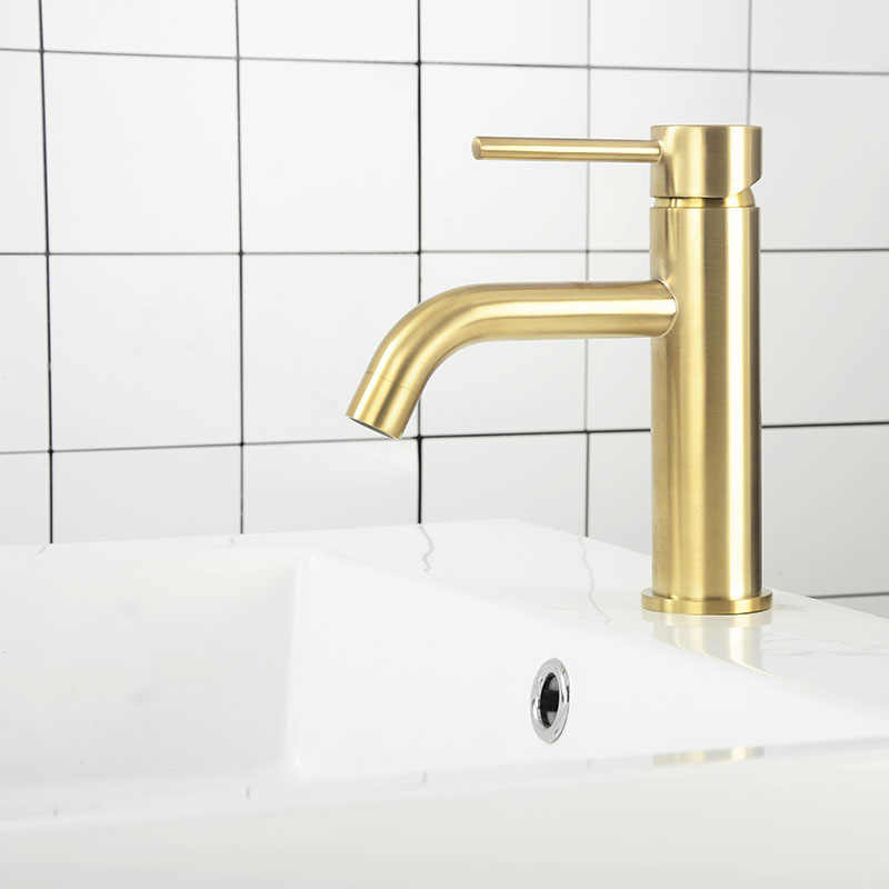 Bathroom Faucet Mixers Water Tap Basin Faucet Bathroom Sink Brass Tap Brushed Gold & Grey & Matt Black & Gold Mixer Taps