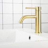 Misturadores torneira do banheiro de água torneira da bacia pia do banheiro bronze escovado ouro & cinza fosco preto & ouro torneiras misturadoras Torneiras de lavatório     -