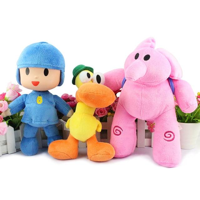 New  plush Pocoyo Elly  Pato Soft Plush Stuffed Figure Toy Doll 12inch 30cm Free Shipping 3Pcs/ Lot