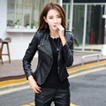 Fashion Women Leather Jacket 2016 Spring Autumn PU Motorcycle Clothing Female Green Leather Coat Plus Size 5XL