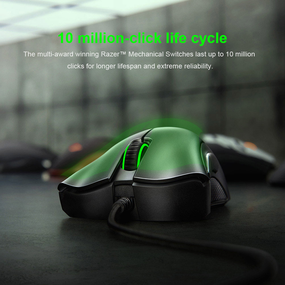 Original Razer DeathAdder Essential Wired Gaming Mouse Mice 6400DPI Optical Sensor 5 Independently Buttons For Laptop PC Gamer HTB1Dt1YX.D1gK0jSZFGq6zd3FXaF Mice