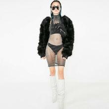 Hirigin 2019 Newest Summer Ladies  Women Mesh See Through Sexy Dress Sleeveless Bodycon Mini Party Night Bikini Cover