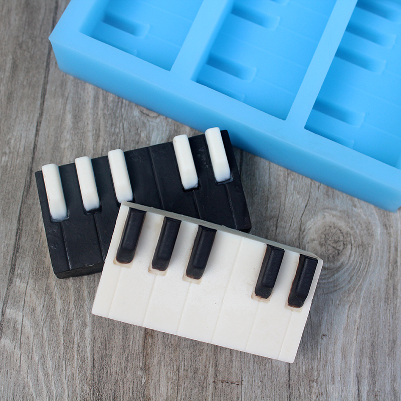 Nicole Silicone Soap Mold Piano Keyboard Shape Handmade Chocolate Candy Mould Craft Resin Clay Decorating Tool
