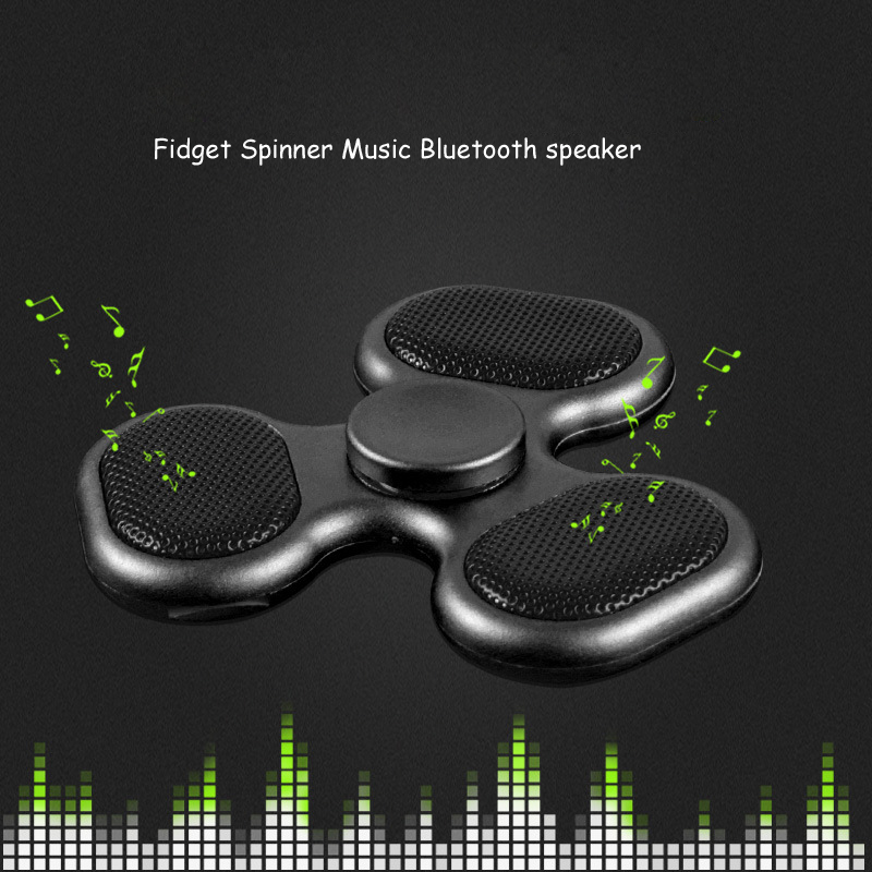 Supology Anti Stress Cool Fidget Spinner Bluetooth Speaker EDC Toys Hand Spinner Tri Spinners For Autism