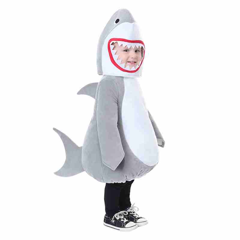 Chaud sous-marin animal Halloween Costume partie Cosplay Costume Top qualité enfants mer Animal grand blanc requin Costume