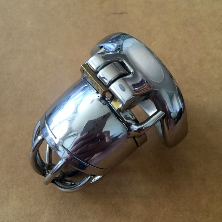 New Small cock cage chastity penis cage with arc cock ring penis Lock Stainless steel sex toys for men Dick device qin huai 3 penis rings stainless steel cock ring penis sleeve set cockring metal chastity cage ball stretcher sex toys for men