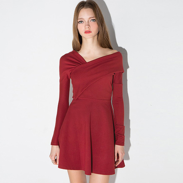 Aliexpress.com : Buy 2016 new year red color warm female dresses ...
